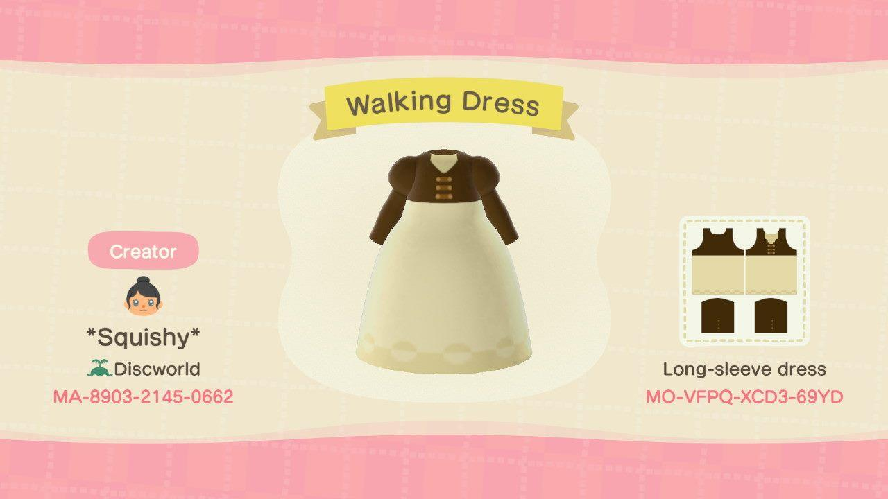 P&P Walking Dress - Animal Crossing: New Horizons Custom Design