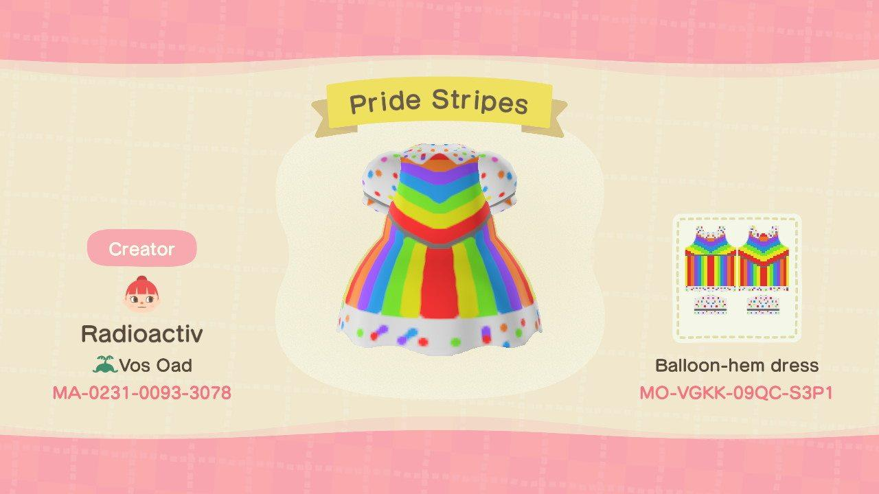 Pride Stripes - Animal Crossing: New Horizons Custom Design