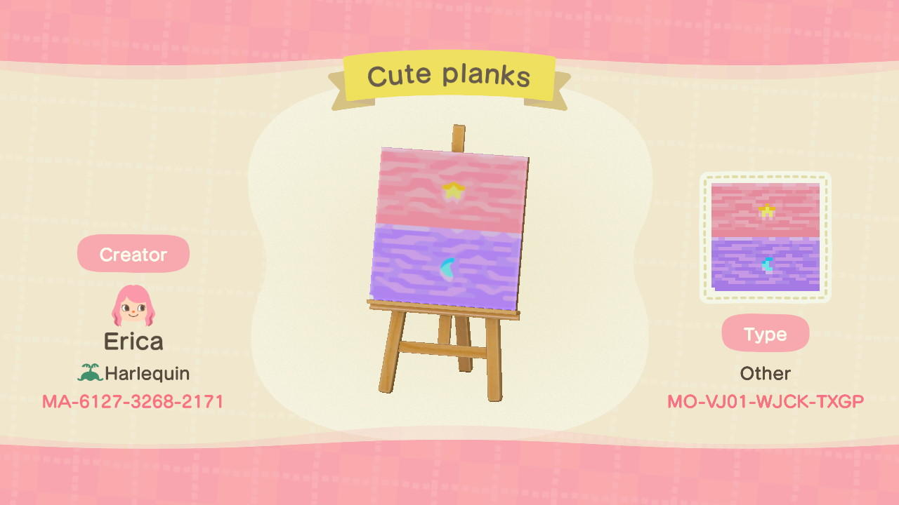 Cute planks - Animal Crossing: New Horizons Custom Design