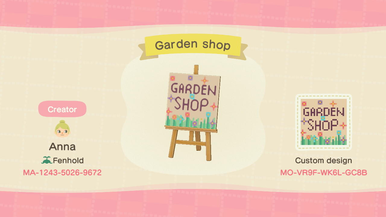 Garden Shop - Animal Crossing: New Horizons Custom Design