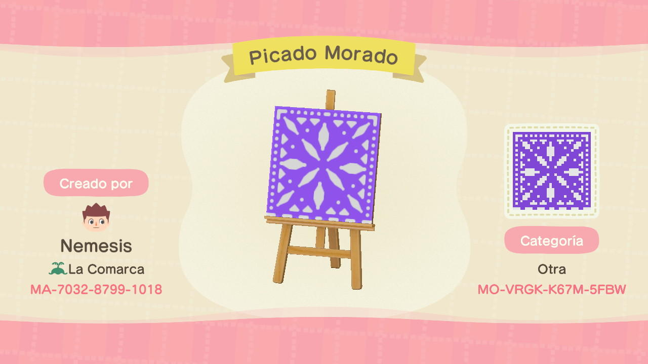 Picado Morado - Animal Crossing: New Horizons Custom Design