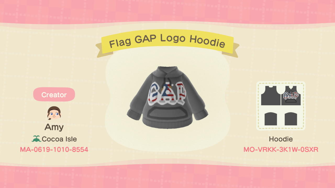 Flag GAP Logo Hoodie - Animal Crossing: New Horizons Custom Design