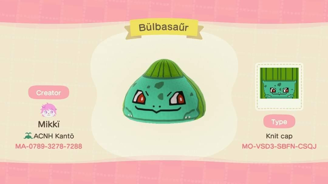 Bulbasaur - Animal Crossing: New Horizons Custom Design