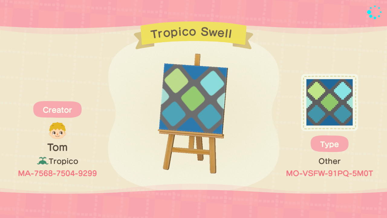 Tropico Swell - Animal Crossing: New Horizons Custom Design