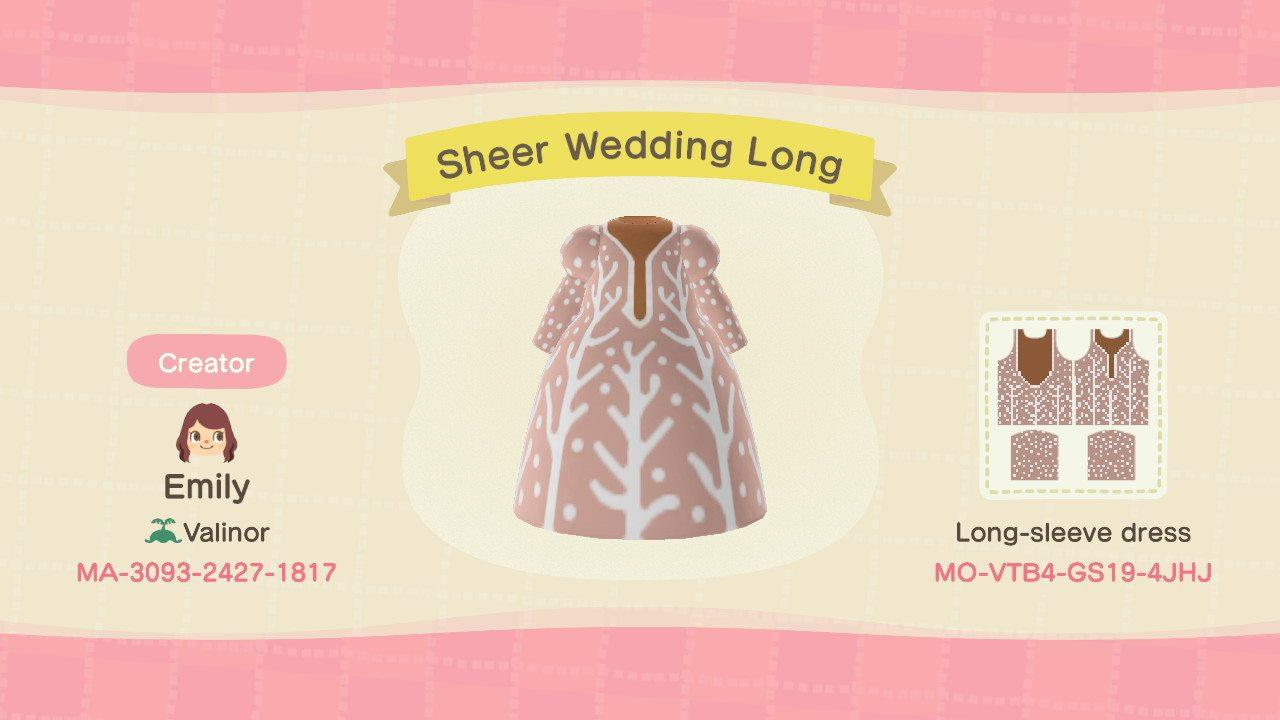 Sheer Wedding Long - Animal Crossing: New Horizons Custom Design