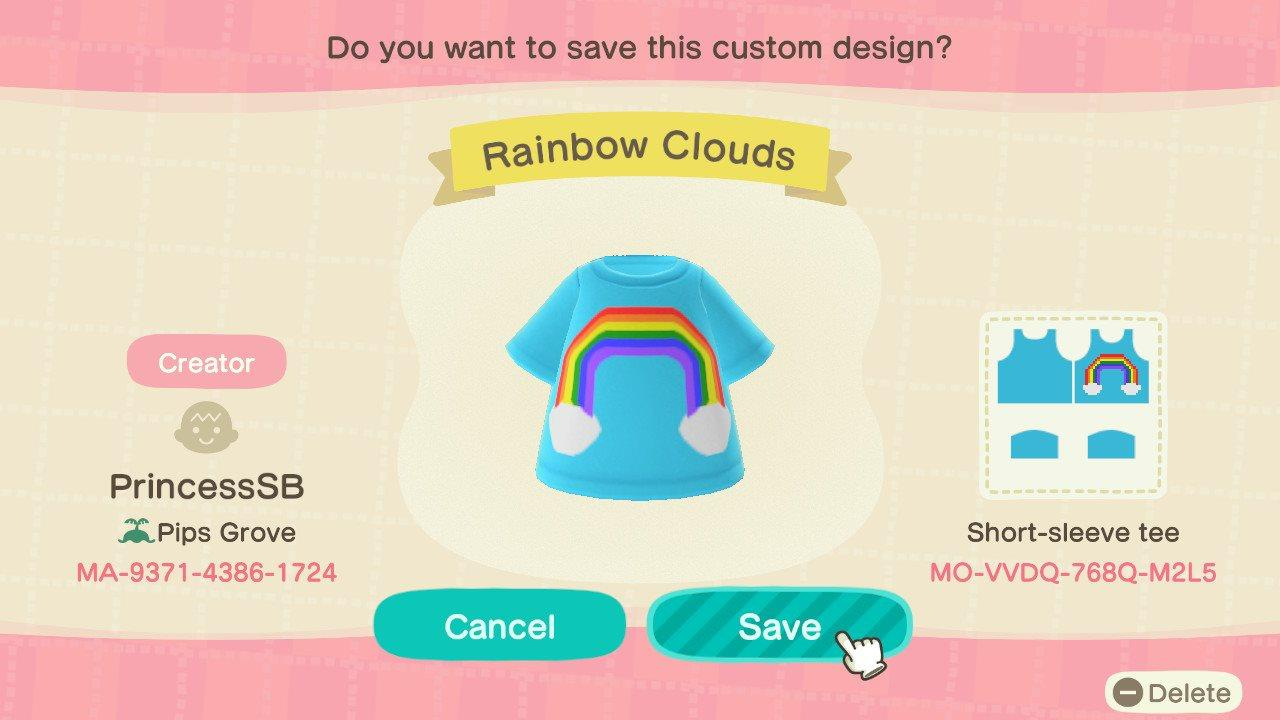 Rainbow Clouds Tee - Animal Crossing: New Horizons Custom Design