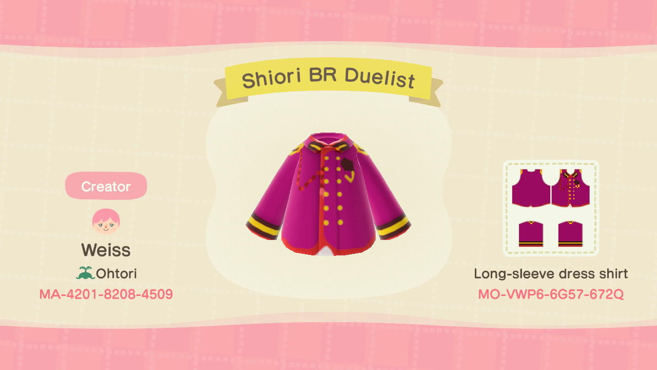 Shiori BR Duelist  - Animal Crossing: New Horizons Custom Design