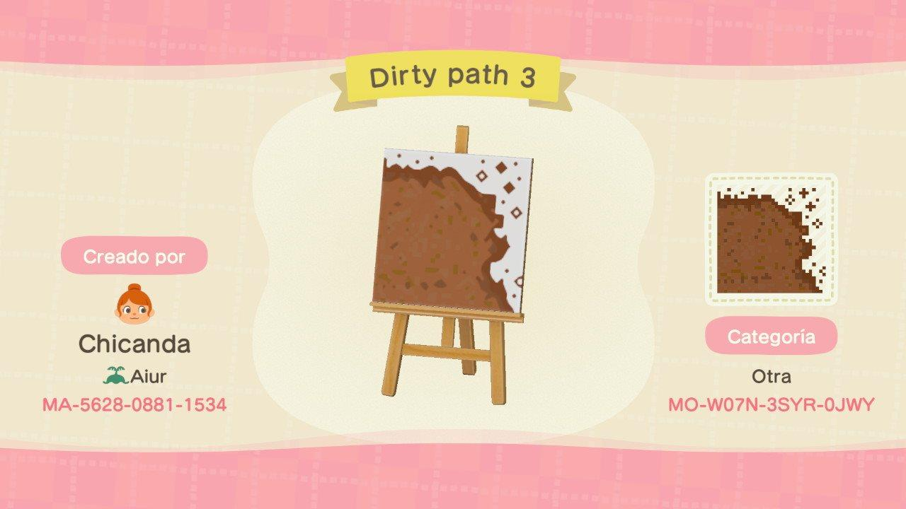 Dirty path 3 - Animal Crossing: New Horizons Custom Design