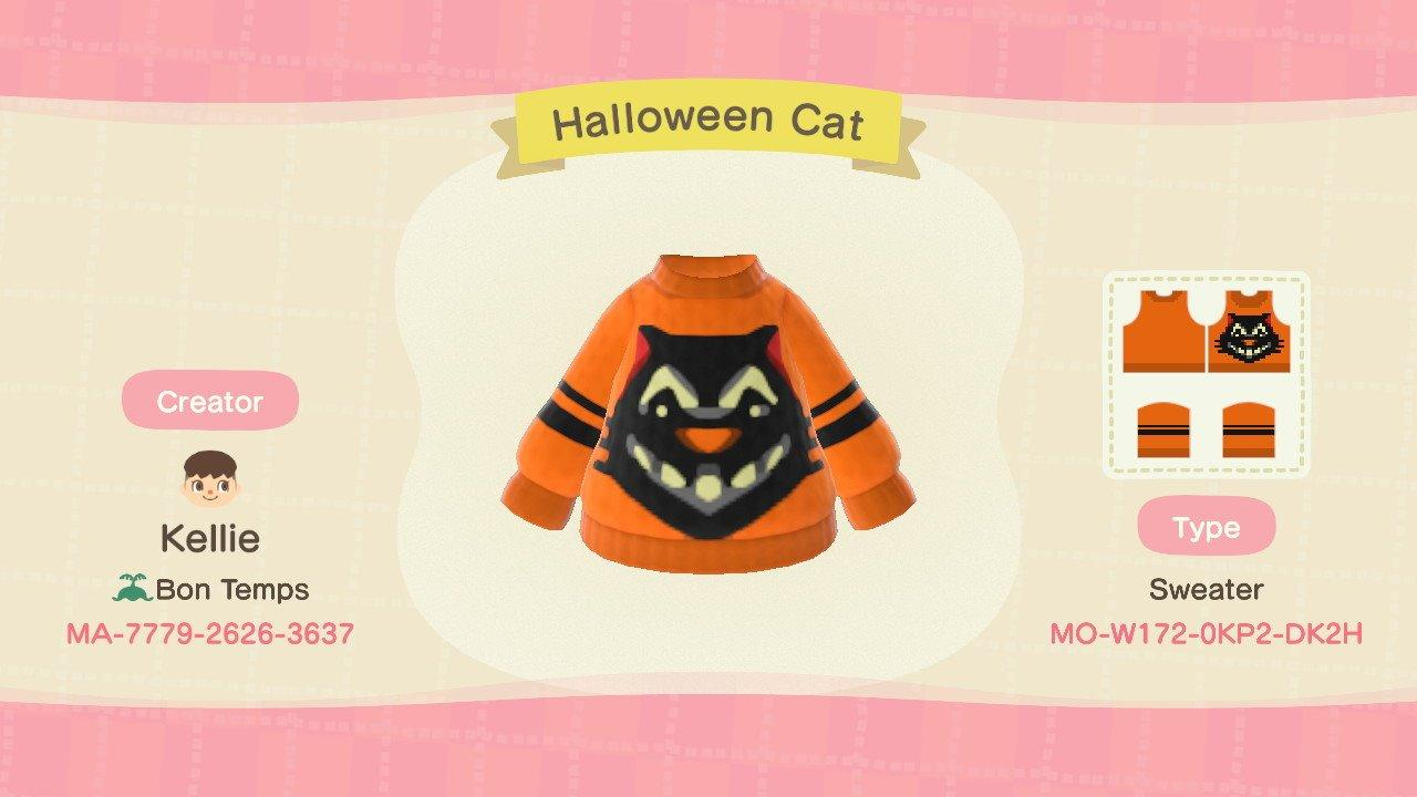 Halloween Cat - Animal Crossing: New Horizons Custom Design