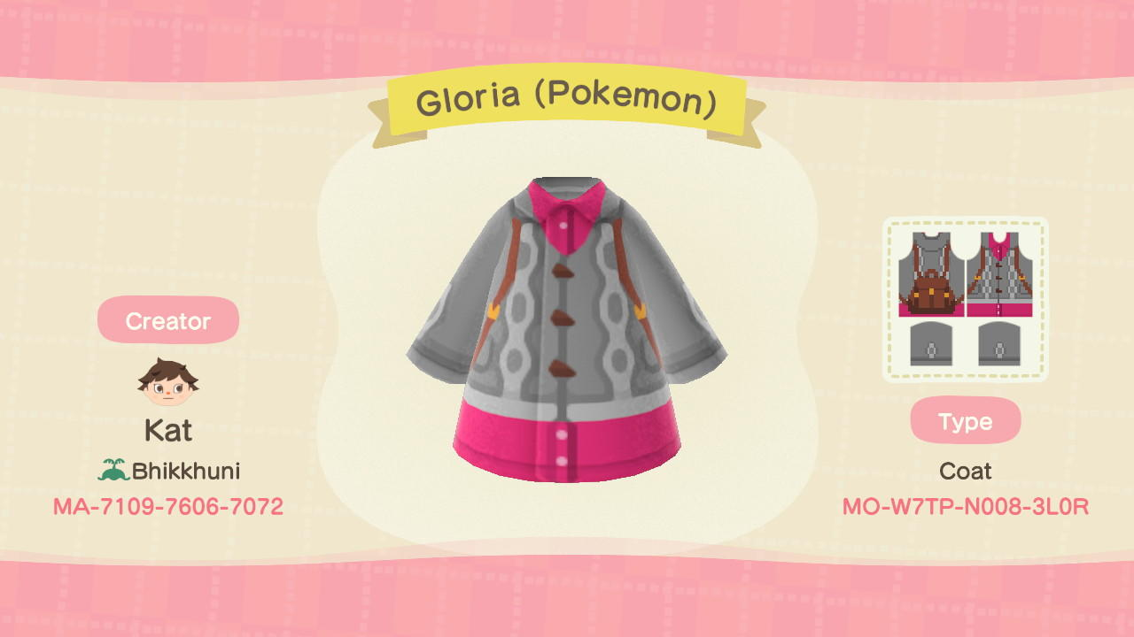Gloria (Pokemon) - Animal Crossing: New Horizons Custom Design