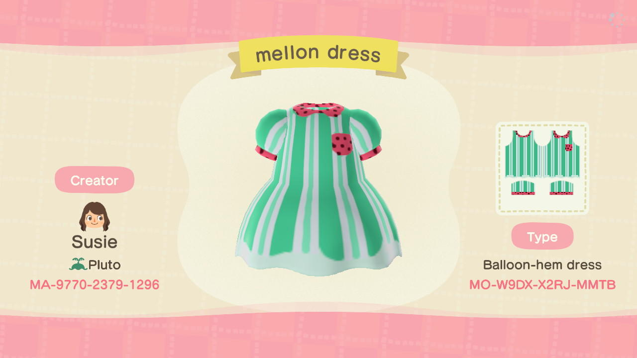 Mellon Dress - Animal Crossing: New Horizons Custom Design