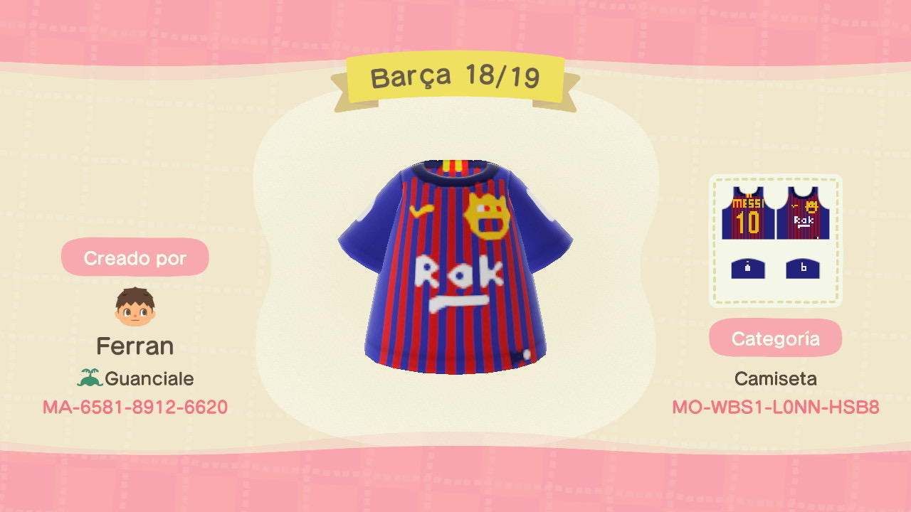 FC Barcelona - Animal Crossing: New Horizons Custom Design