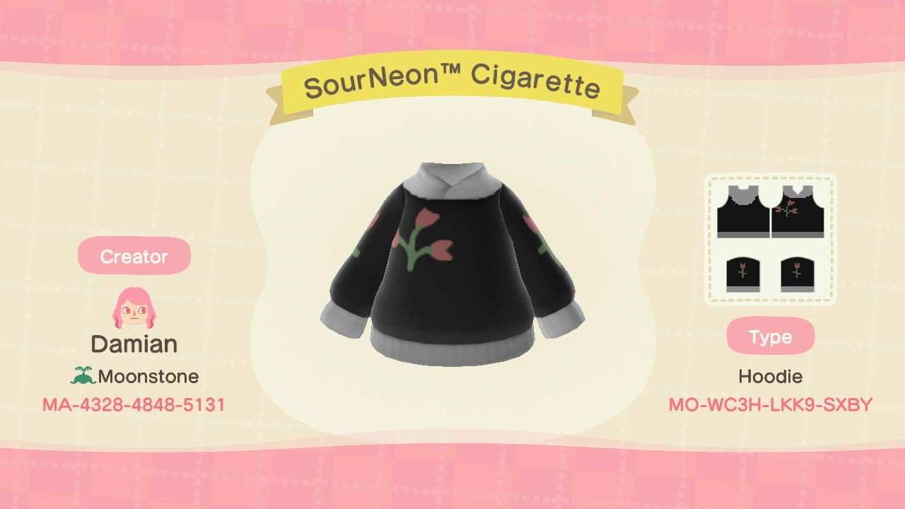 SourNeonTM Cigarette - Animal Crossing: New Horizons Custom Design