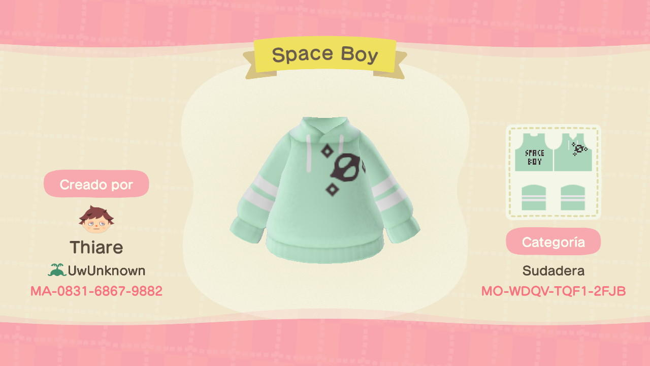 Space Boy - Animal Crossing: New Horizons Custom Design