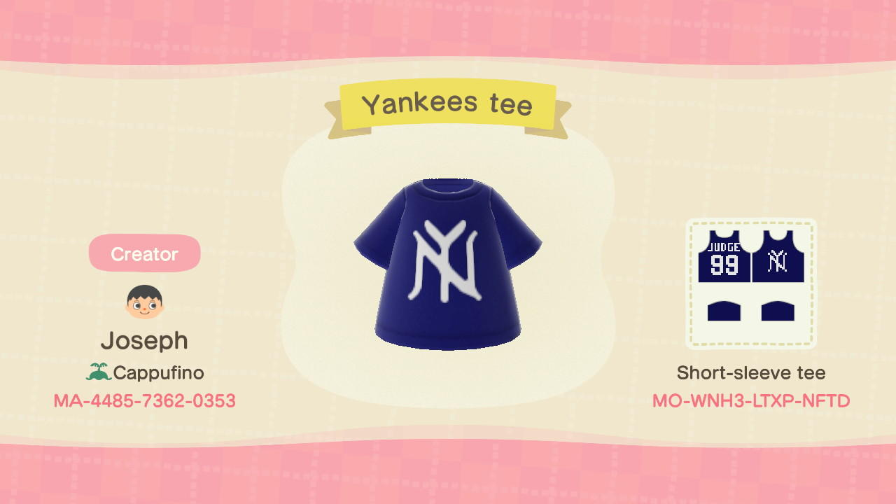 Yankees Tee - Animal Crossing: New Horizons Custom Design