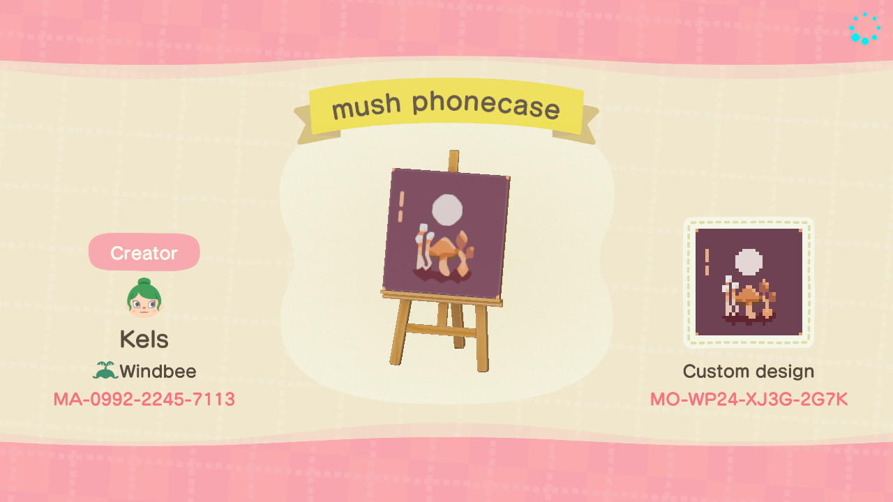 mushroom phonecase - Animal Crossing: New Horizons Custom Design