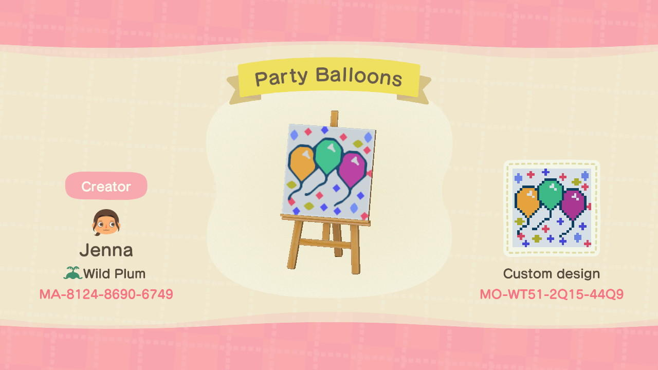 Party Balloons - Animal Crossing: New Horizons Custom Design
