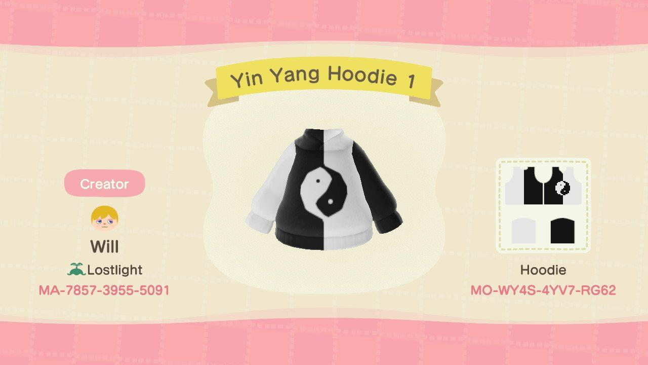 Yin Yang Hoodie 1 - Animal Crossing: New Horizons Custom Design