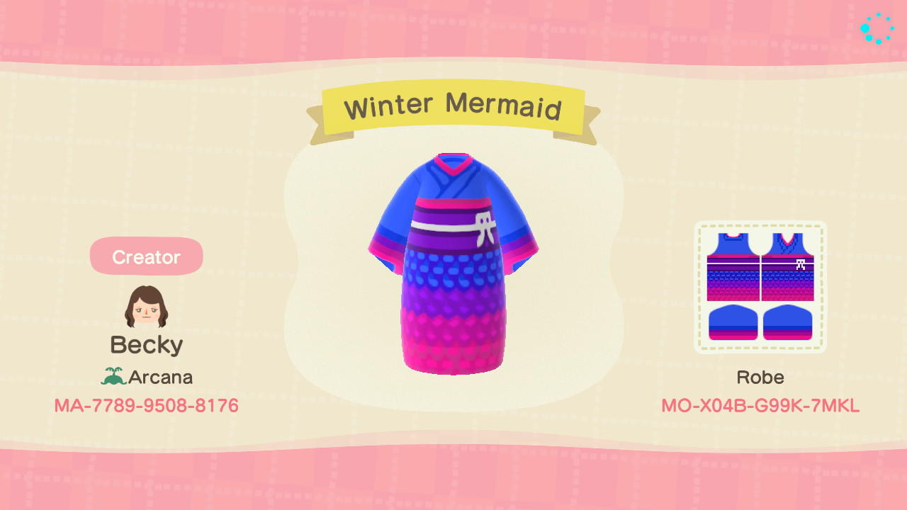 Winter Mermaid - Animal Crossing: New Horizons Custom Design