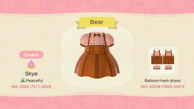 Beary Cute Dress - Animal Crossing: New Horizons Custom Design