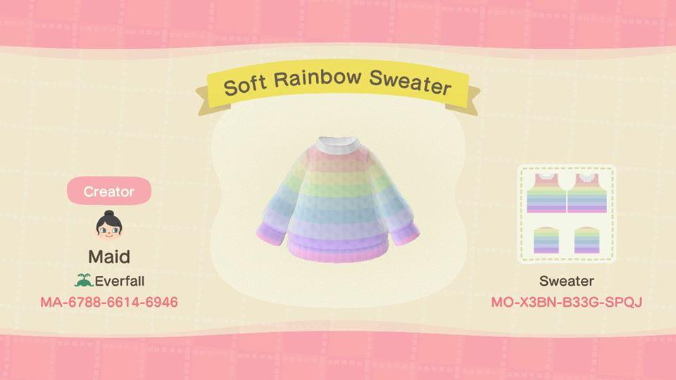 Soft Rainbow Sweater - Animal Crossing: New Horizons Custom Design