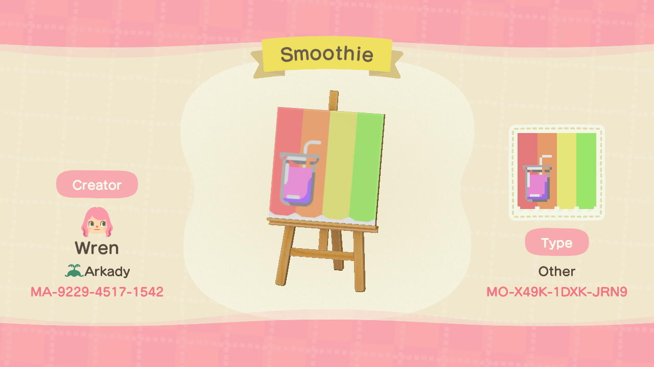 Fruit Smoothie Stall - Animal Crossing: New Horizons Custom Design