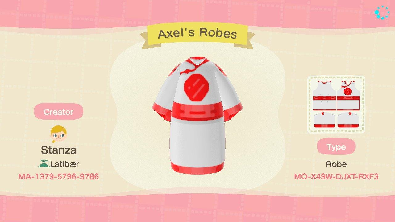 Axel's Robes - Animal Crossing: New Horizons Custom Design