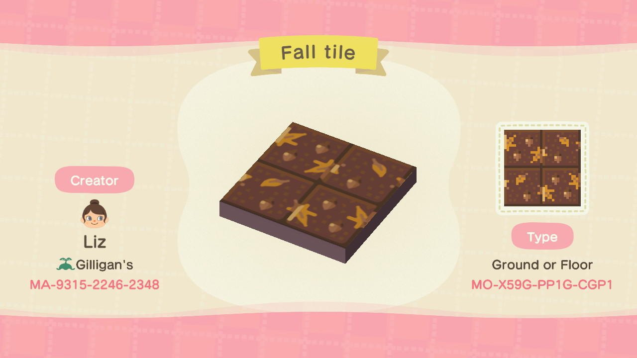 Fall tile - Animal Crossing: New Horizons Custom Design