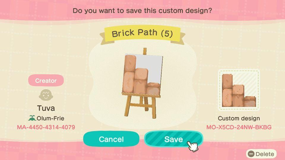 Brick Path (5) - Animal Crossing: New Horizons Custom Design