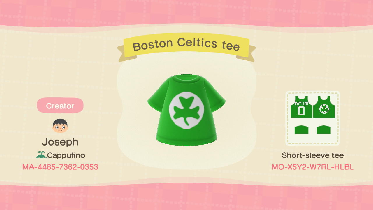 Celtics Tee - Animal Crossing: New Horizons Custom Design