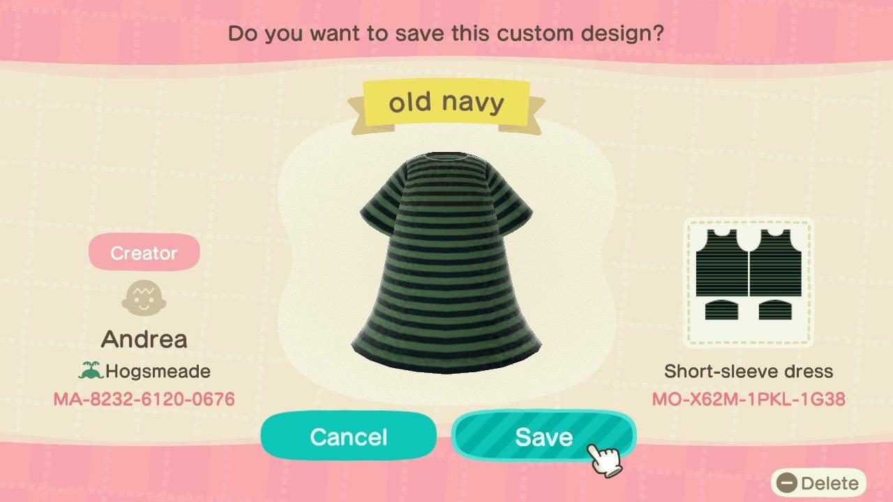 Black&green stripes - Animal Crossing: New Horizons Custom Design