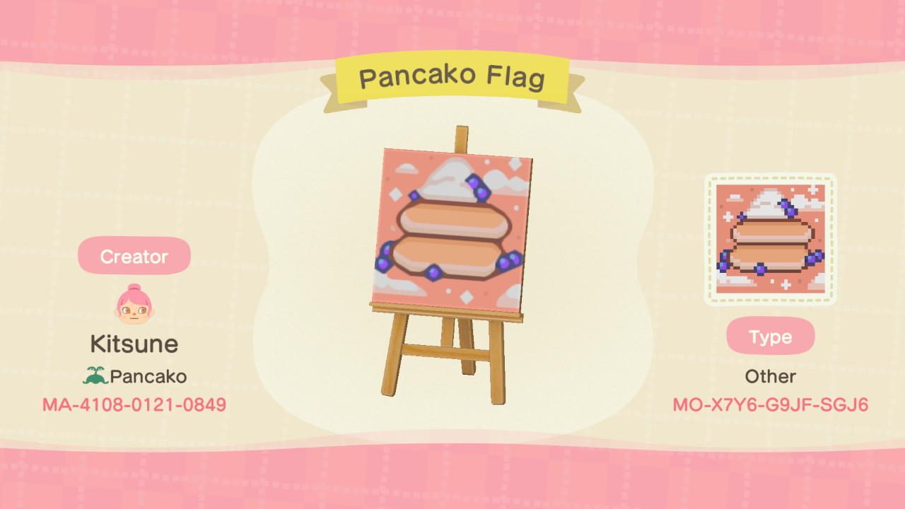 Pancako Flag - Animal Crossing: New Horizons Custom Design
