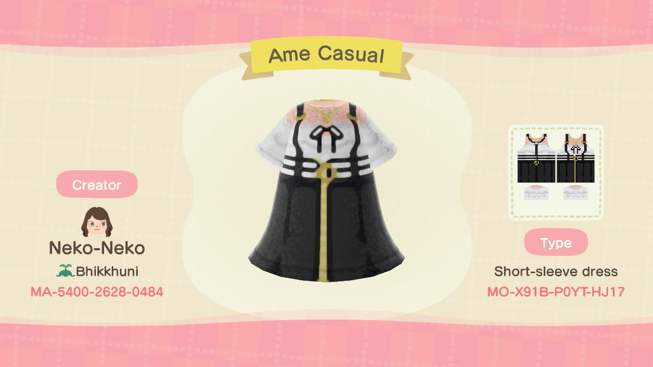 Ame (Casual) - Animal Crossing: New Horizons Custom Design