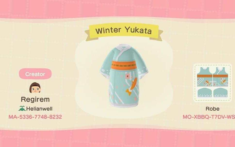 Winter Yukata - Animal Crossing: New Horizons Custom Design