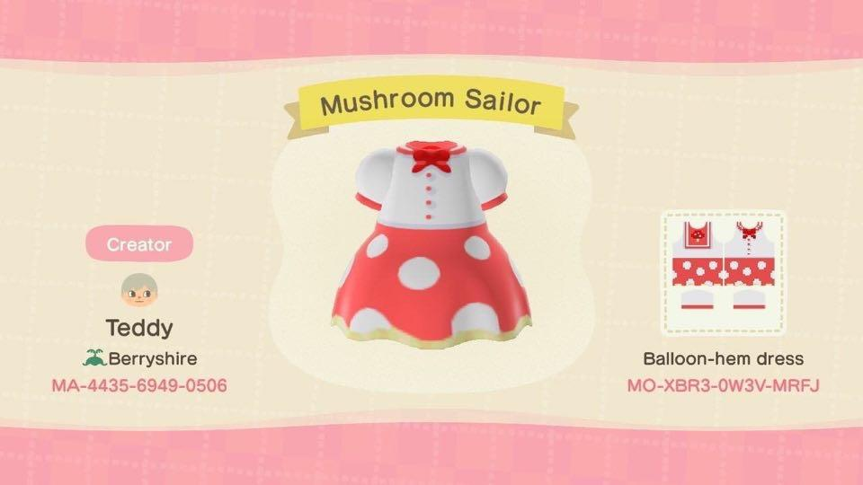 Mushroom Sailor - Animal Crossing: New Horizons Custom Design