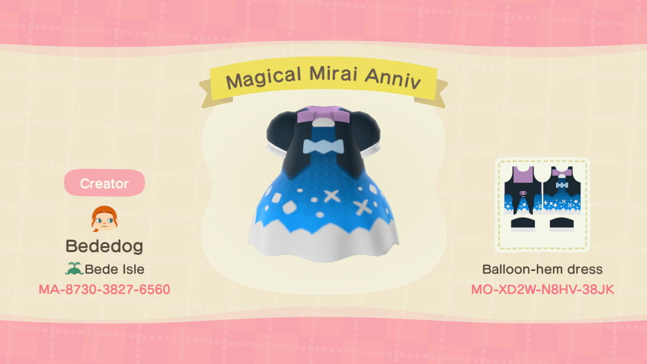 Magical Mirai Anniv - Animal Crossing: New Horizons Custom Design