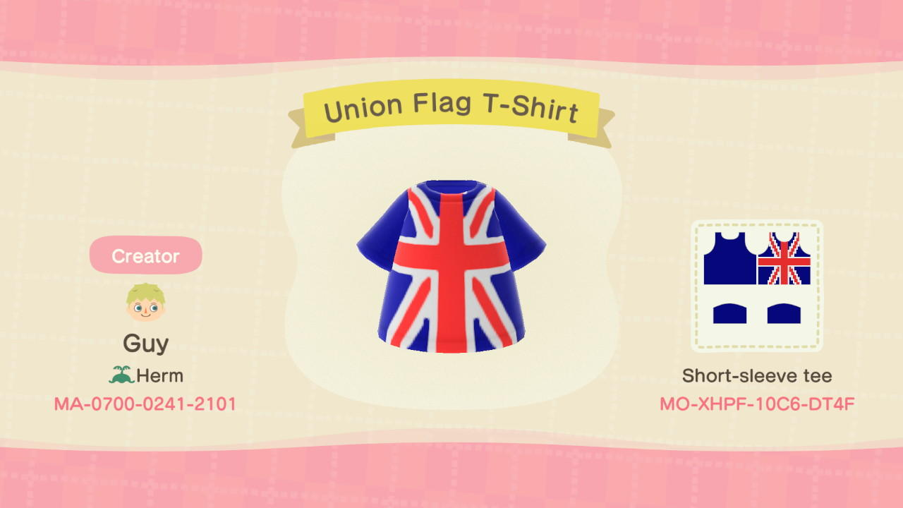 Union Flag T-Shirt - Animal Crossing: New Horizons Custom Design