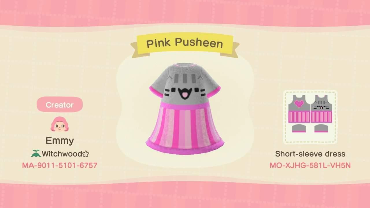 Pink Pusheen - Animal Crossing: New Horizons Custom Design