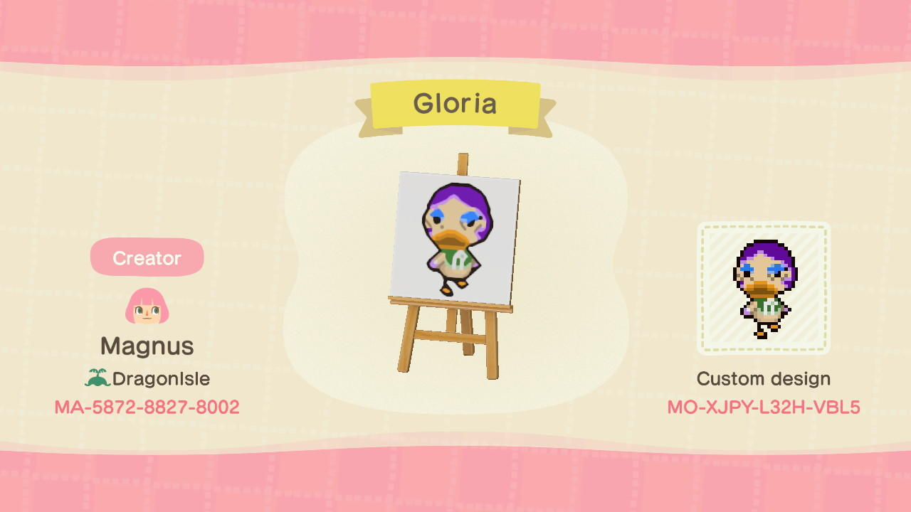 Gloria Signpost - Animal Crossing: New Horizons Custom Design