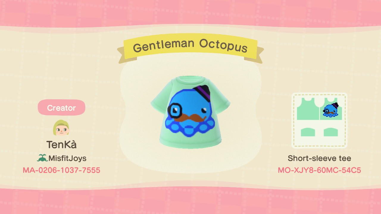 Gentleman Octopus  - Animal Crossing: New Horizons Custom Design