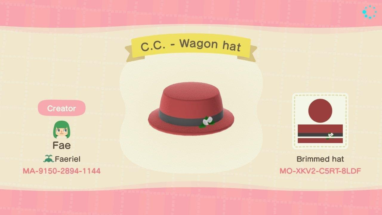 C.C. - Wagon hat - Animal Crossing: New Horizons Custom Design