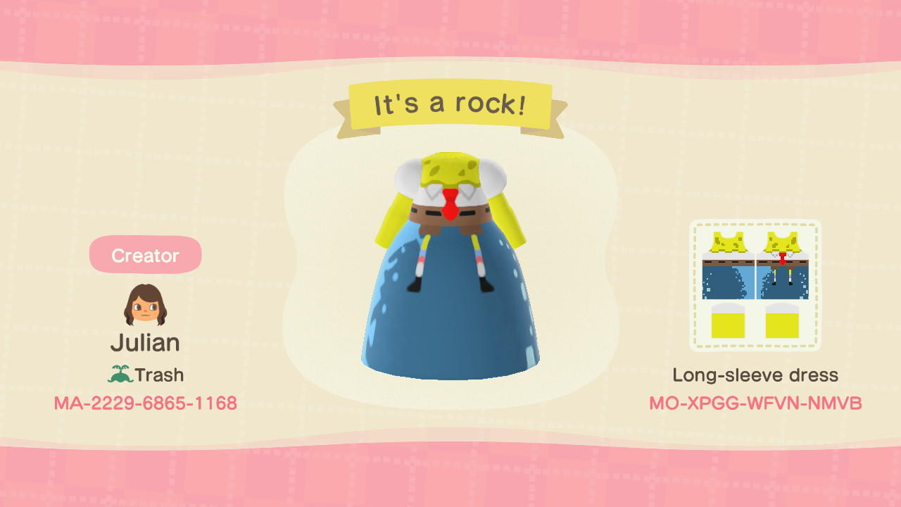 It's a rock! - Animal Crossing: New Horizons Custom Design