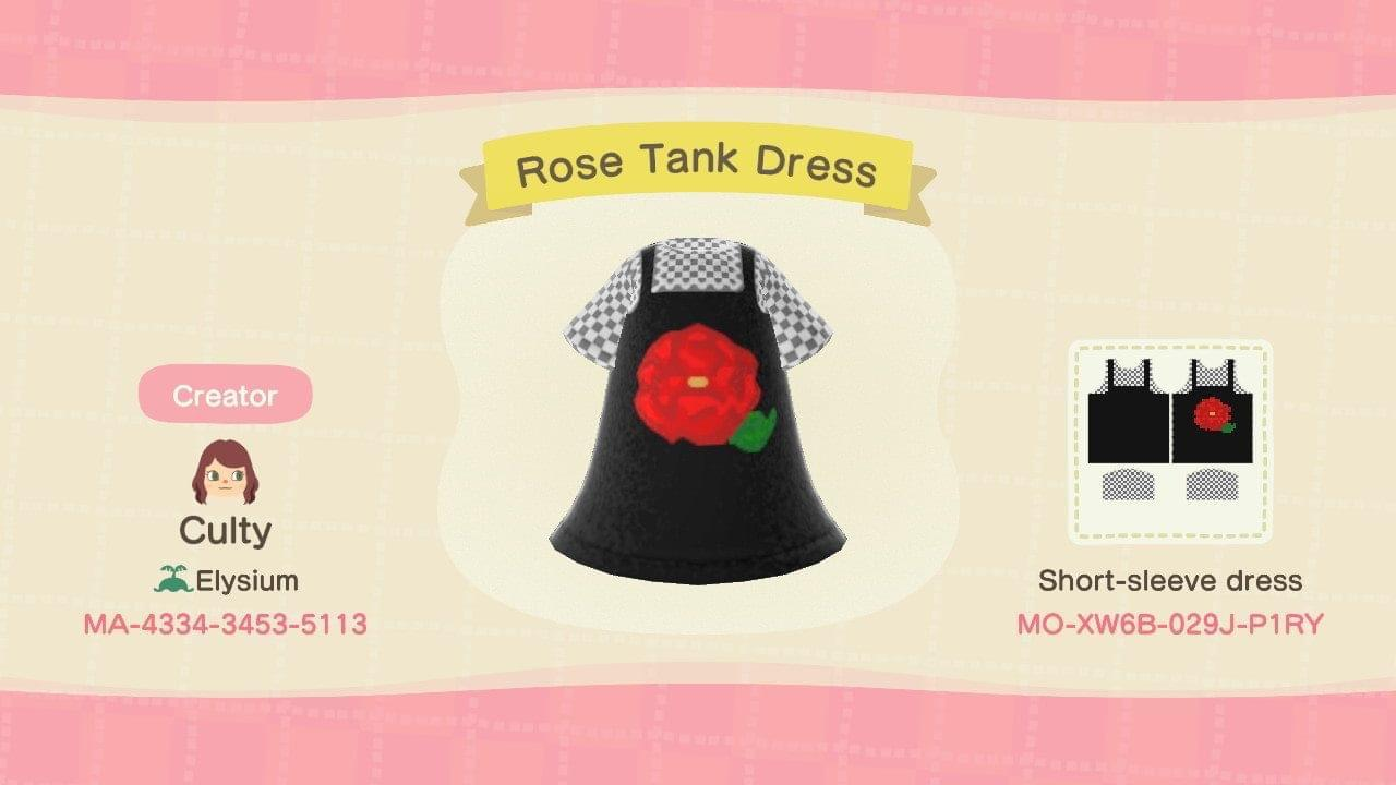 Rose Tank Dress - Animal Crossing: New Horizons Custom Design