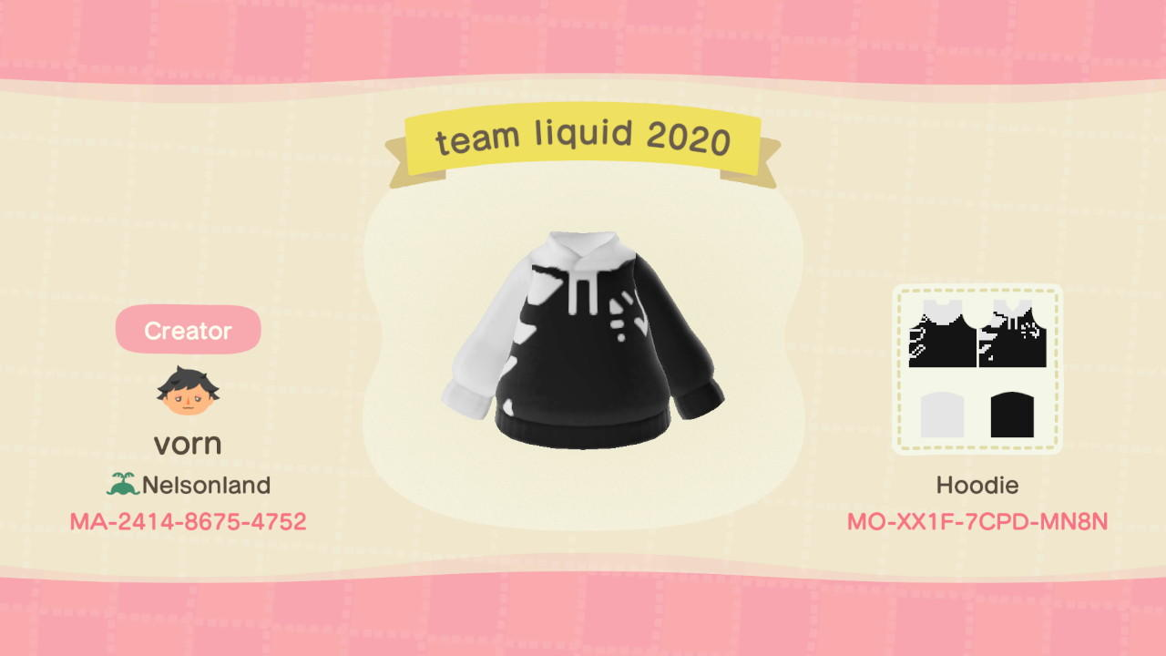 Team Liquid 2020 - Animal Crossing: New Horizons Custom Design