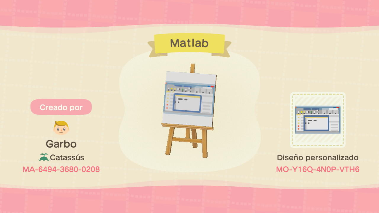 Matlab - Animal Crossing: New Horizons Custom Design