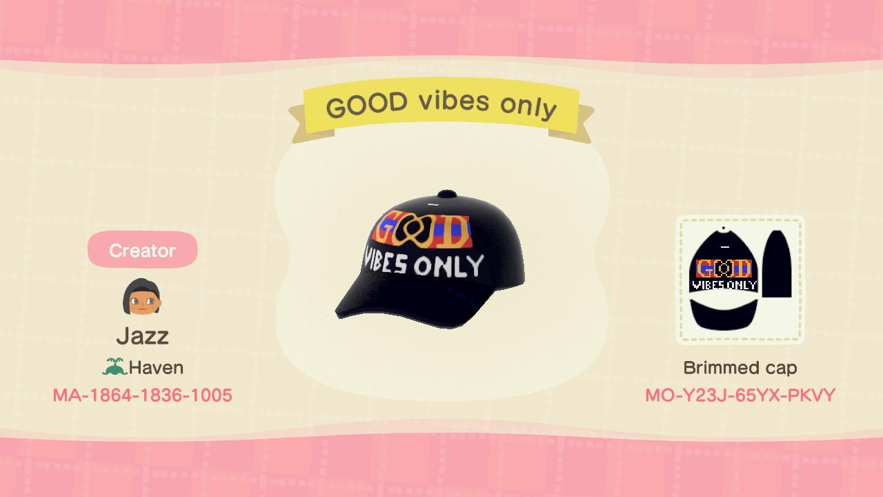 GOOD vibes only Cap - Animal Crossing: New Horizons Custom Design