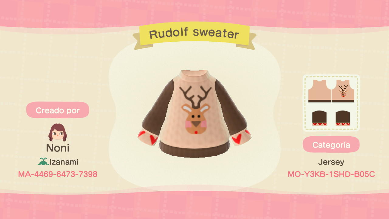 Rudolf sweater  - Animal Crossing: New Horizons Custom Design