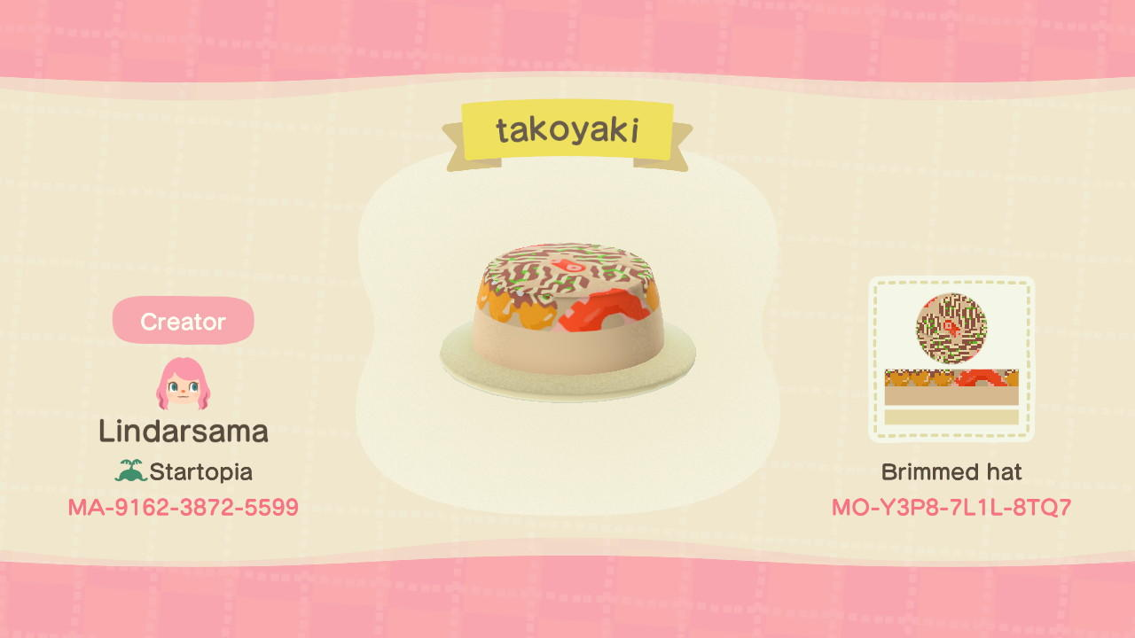 Takoyaki  - Animal Crossing: New Horizons Custom Design