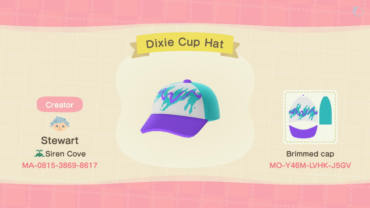 Dixie Cup Hat - Animal Crossing: New Horizons Custom Design