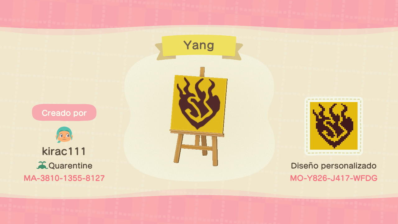 Yang symbol - Animal Crossing: New Horizons Custom Design